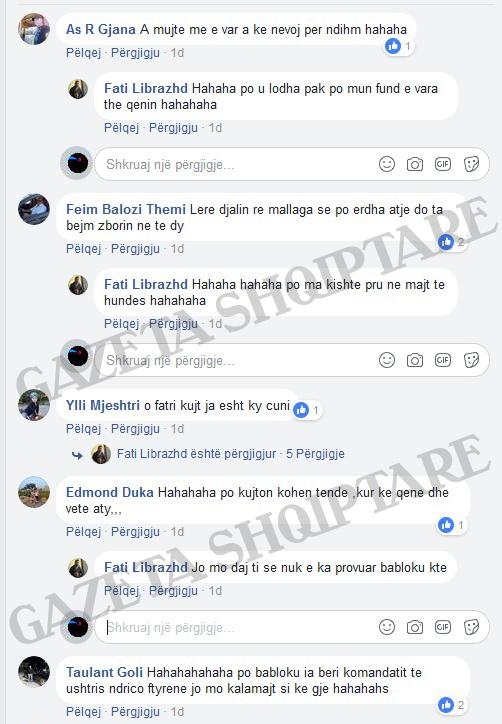 Komentet në Facebook