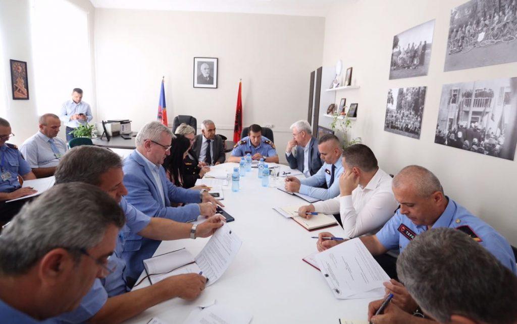 Ministri Fatmir Xhafaj takim me strukturat e policisë në Shkodër, 3 gusht 2018