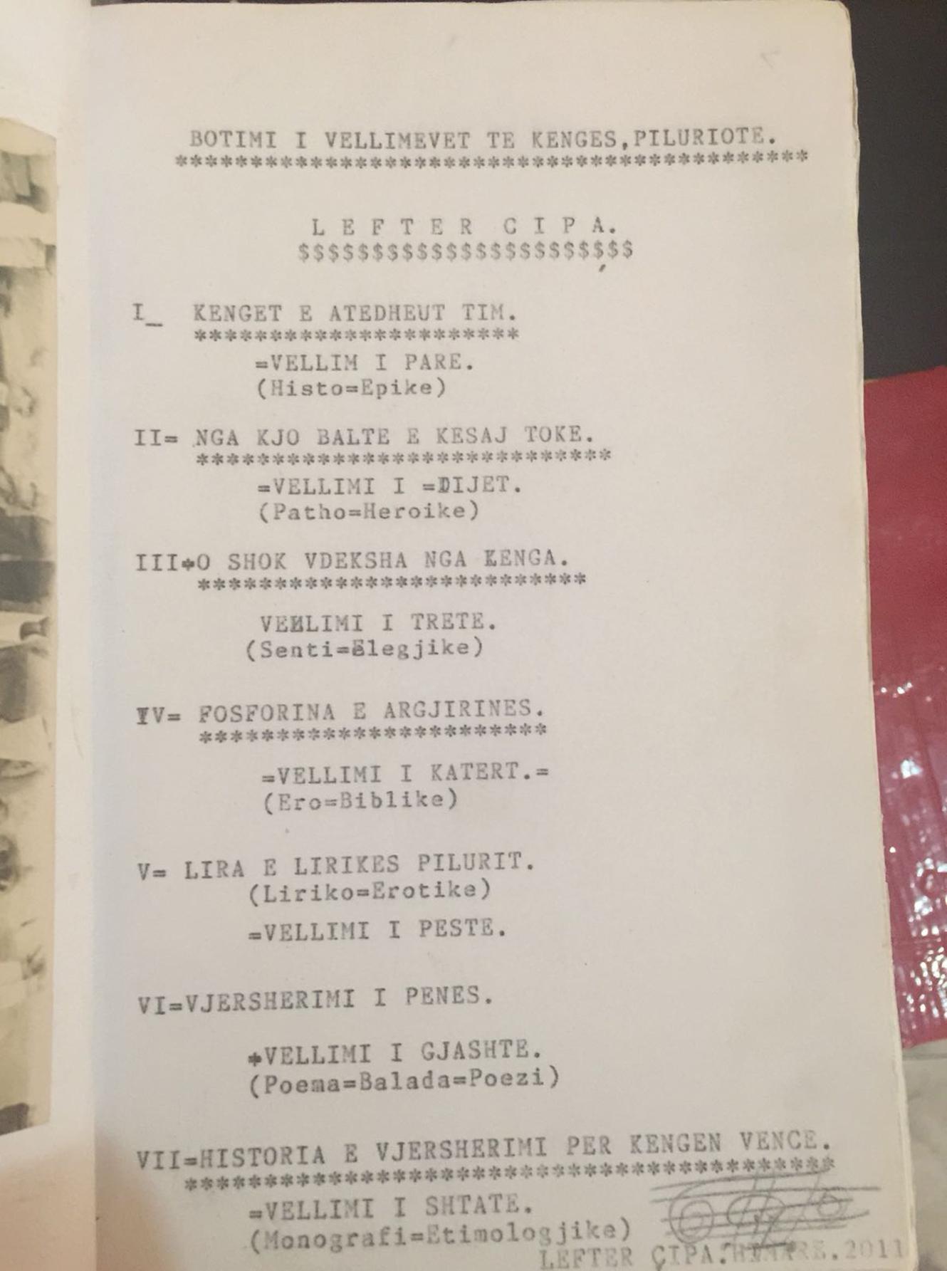 4. Faksimile të dorëshkrimeve të Lefer Çipës (shypur vetë ai në makinë shkrimi)
